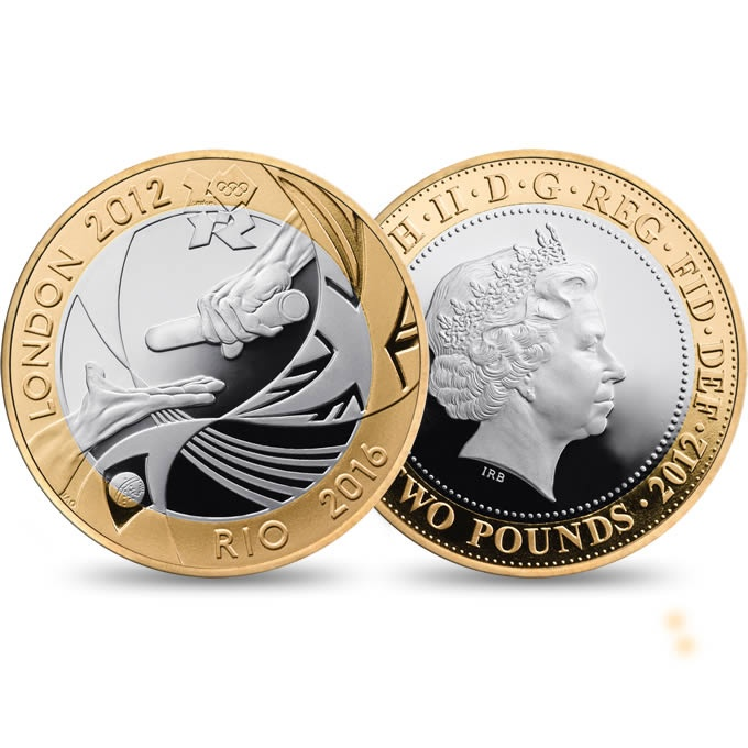 The London 2012 Handover to Rio Commemorative £2 Coin