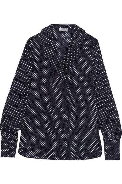 FRAME   Sgt. Pepper polka-dot silk blouse   NET-A-PORTER.COM
