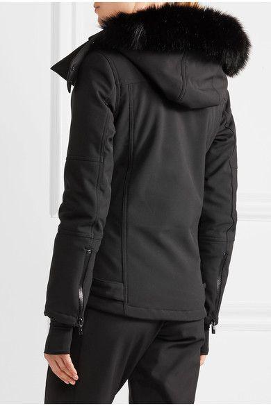 Topshop Sno - Star Faux Fur-trimmed Ski Jacket - Black - UK8