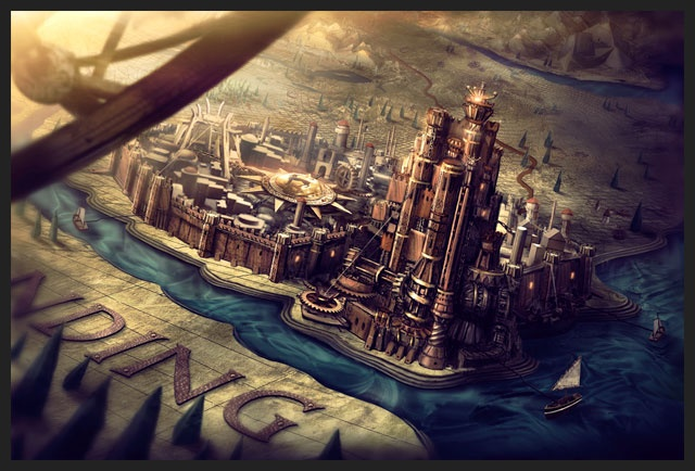 Game of Thrones (GOT) example #411: A show and series of novels I hold dear to my heart. Game of Thrones concept art for Kings Landing.