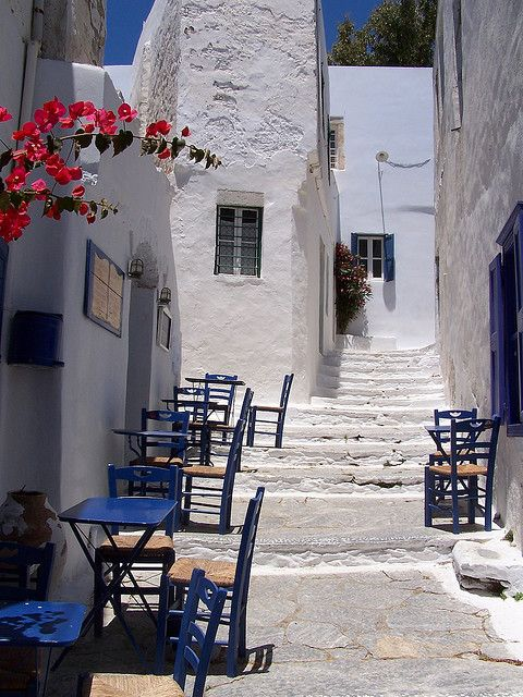 A little cafe in Amorgos island, Greece
