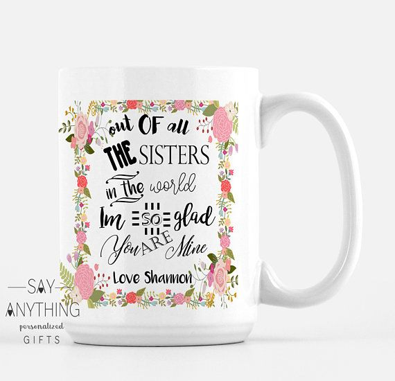 Personalized Gift Sister For Her Christmas In Law Mug Custom Coffee Unique Mugs