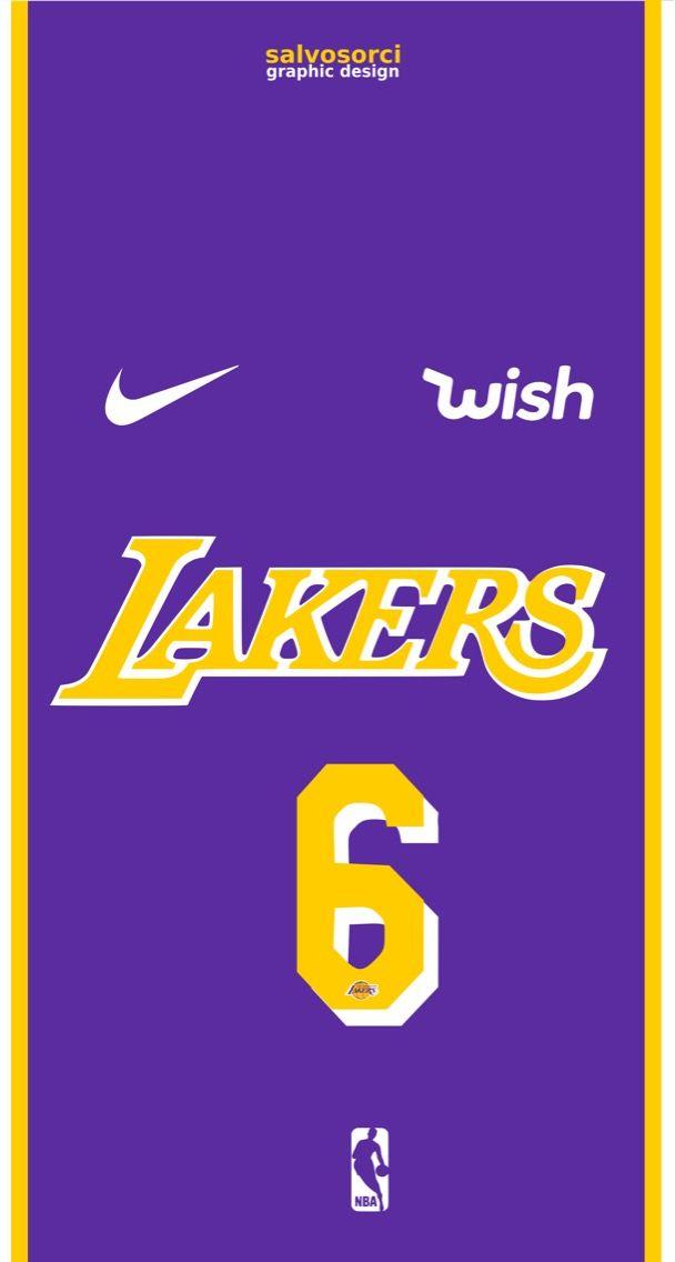 Los Angeles Lakers LeBron James 2019-20 shirt Number 6 away ...