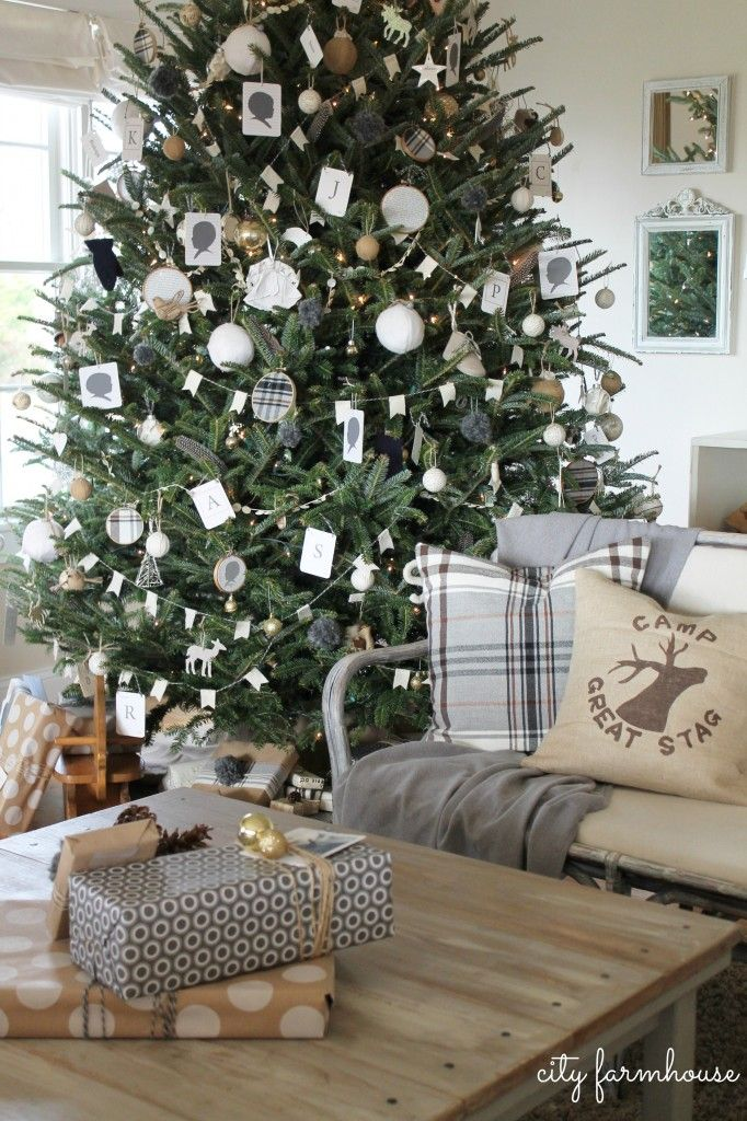 City Farmhouse Family Room Holiday Tour Pillow By The Nest