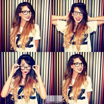 Zoella, love her ombre hair.