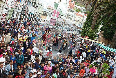 Scène Cape Town de foule Image stock éditorial