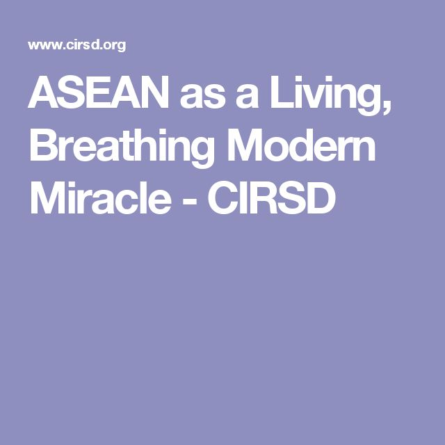 ASEAN as a Living, Breathing Modern Miracle - CIRSD