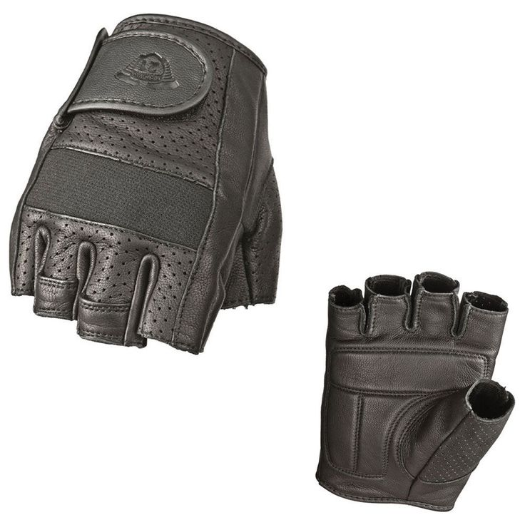 Highway 21 Jab Half Perforated Leather Motorcycle Gloves