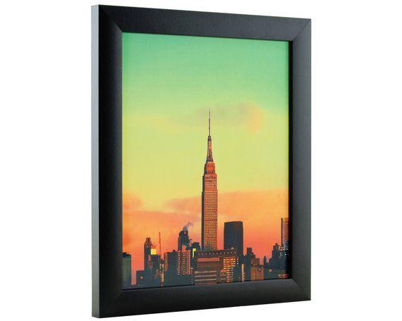 Craig Frames 11x17 Inch Modern Black Picture Frame Etsy Black Picture Frames Picture Frame Decor Contemporary Picture Frames