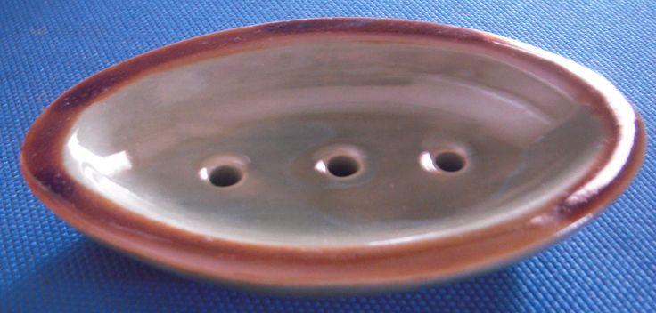 SP30 Name: Plain Soap Dish Celadon Brown