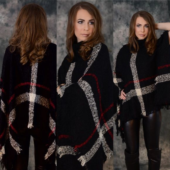 Amazing Madison Poncho Available in Red and Tan The Madison poncho available in red and tan. Perfect for layering and the cool weather.   This can be worn with absolutely everything. Dressed up or down.  Throw this on for a polished look. Please do not purchase this listing. Message me to create your own listing. Lewboutiquetwo Sweaters Shrugs & Ponchos