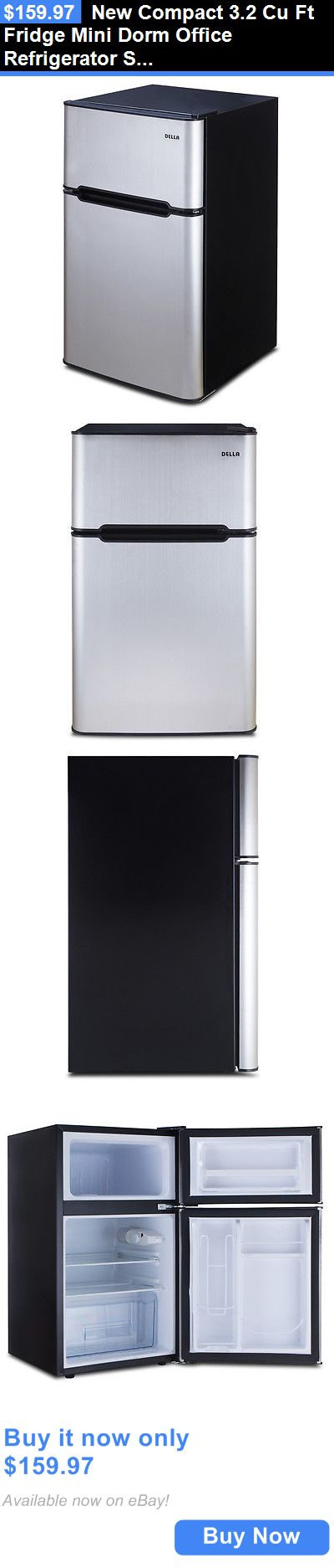 appliances: New Compact 3.2 Cu Ft Fridge Mini Dorm Office Refrigerator Small Freezer Cooler BUY IT NOW ONLY: $159.97