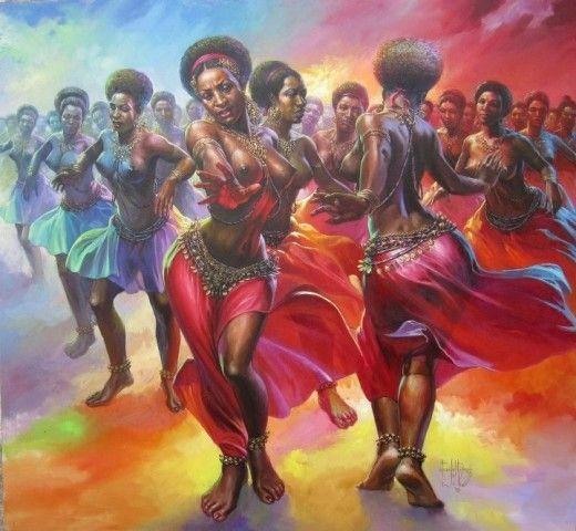 African Artworks: Amazing paintings of the famous Okwoju El-Dragg