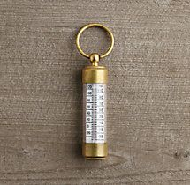 Vermont Travel Thermometer Help someone complain about the cold with precision with this nifty keyring thermometer