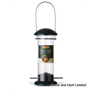 Johnston Jeff Niger Seed Feeder For Wild Birds Carbon-steel fitted lid and base Polycarbonate tube and powder-coated…