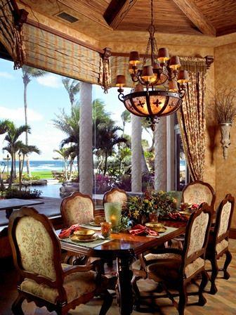 Mediterranean design- Informal Dining Area - Simmons and Saray Interiors -