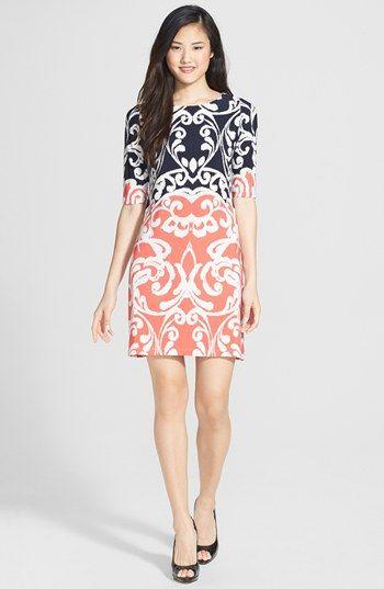 Love this printed shift dress