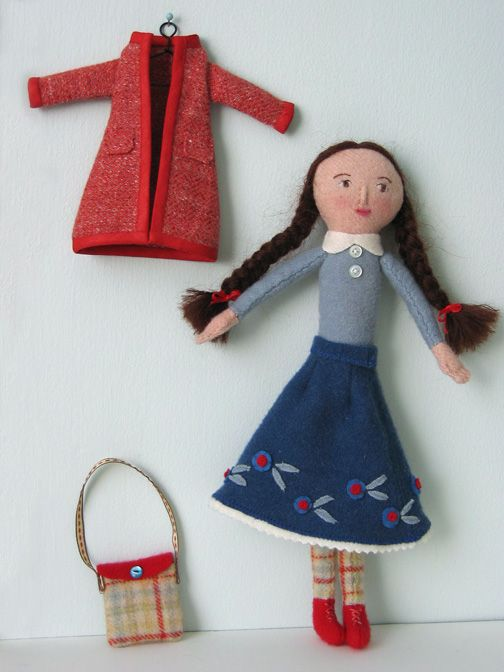 Free Fabric Doll Patterns | needle book: Millie - Mimi's Purl Soho doll pattern