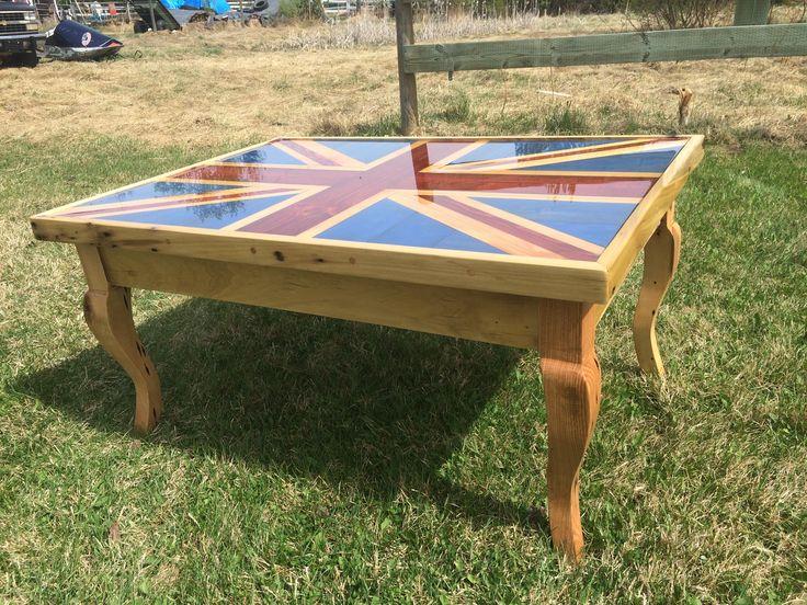Union Jack Reclaimed Wood Coffee Table