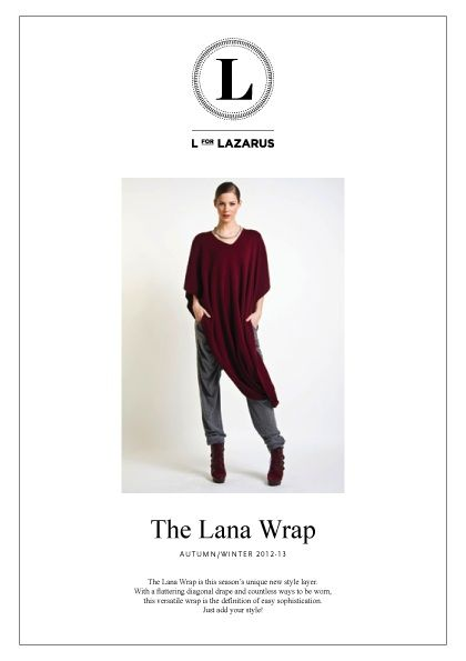 L for LAZARUS Lana Wrap for Autumn/Winter 12