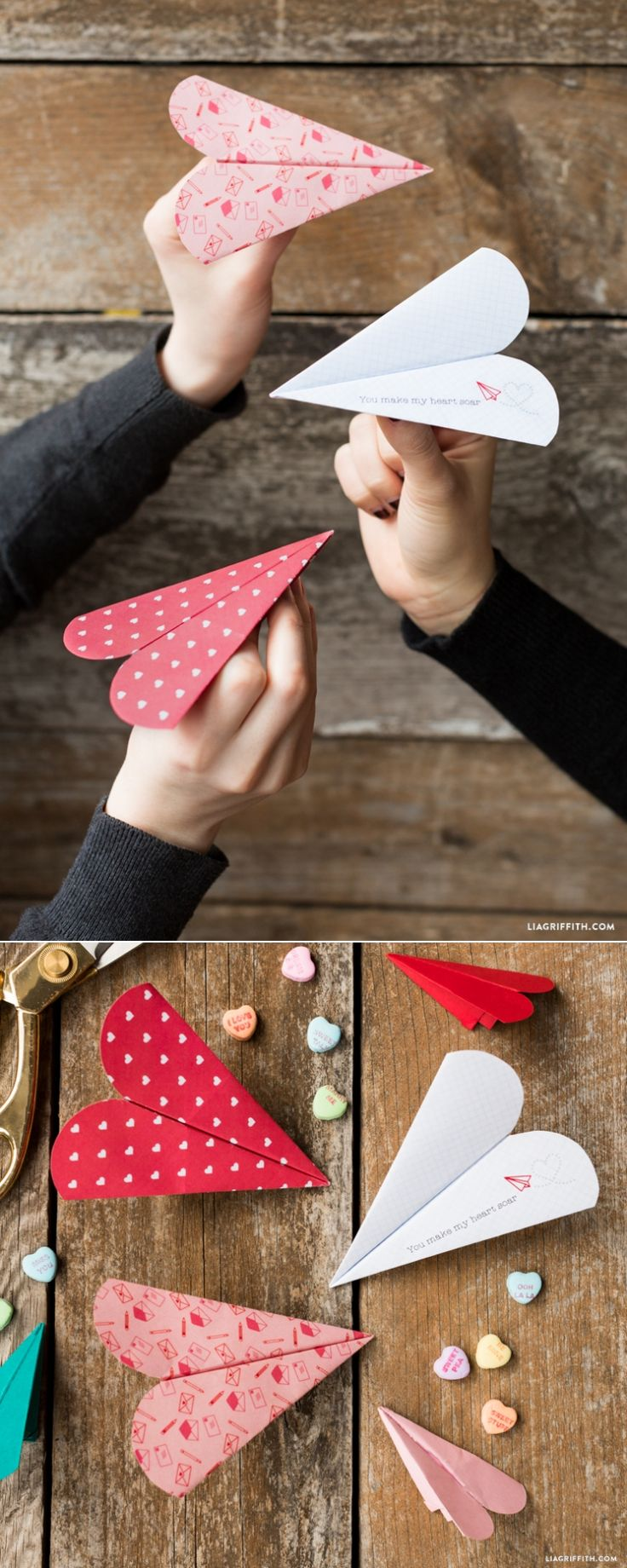 DIY: heart paper airplane