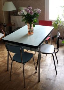 Table Cuisine Formica Anne 50. Great Top Trendy Buffet Vintage ...