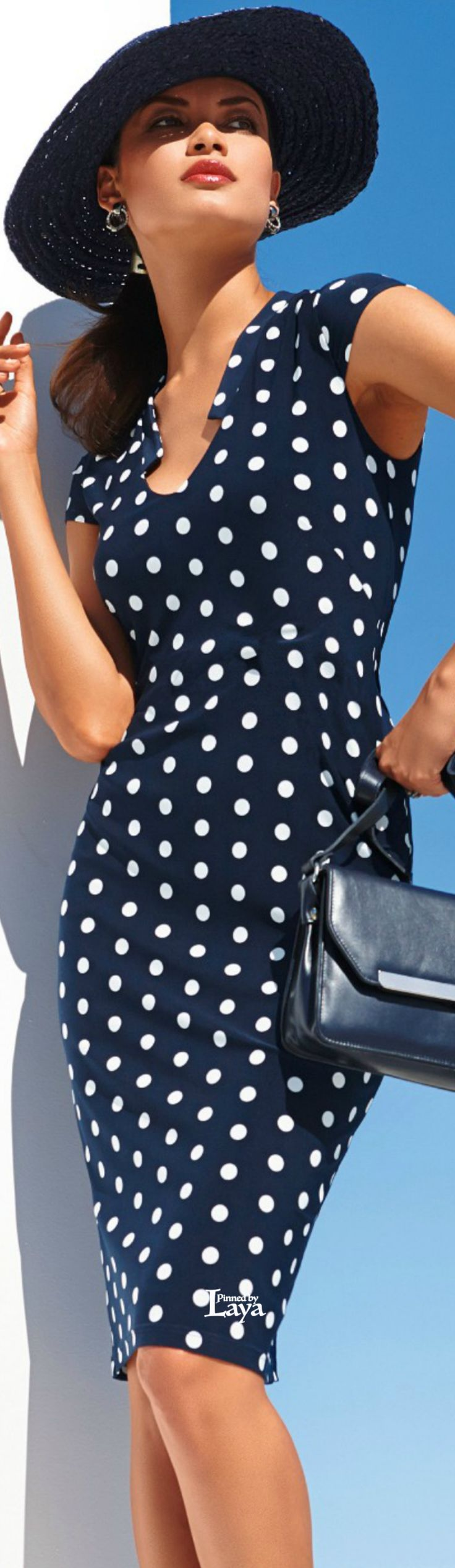 """♔LAYA♔MADELEINE♔ This polka dots does not look """"playful"""" to be G-based type. It's dynamic, regular and classic, so  I'd say - DC. One of my DC friends has a similar polka dot dress and look great in it"""