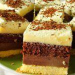 Prajitura cu blat de cacao crema de gris si afine este pufoasa, foarte aromata si bineinteles foarte gustoasa. Blaturile de cacao, crema de gris si unt, afinele si blatul de albusuri si nuci creeaza un desert perfect de vara.