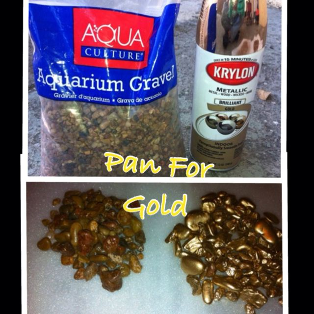 "Items used to make Gold for ""Panning for Gold game"" for our Western Party"