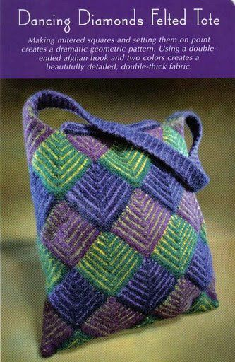 Crochet Diamonds Bag Chart. Site is not in english, but the step-by-step pictures and chart help quite a bit. Simple crochet pattern that is not as difficult as it appears.