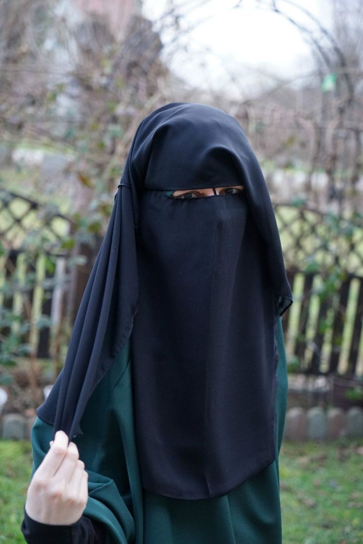 Niqab Saudi lang Burka mit 3 Lagen Hijab Jilbab Khimar Islamische Kleidung in Kleidung & Accessoires, Damenmode, Sonstige | eBay