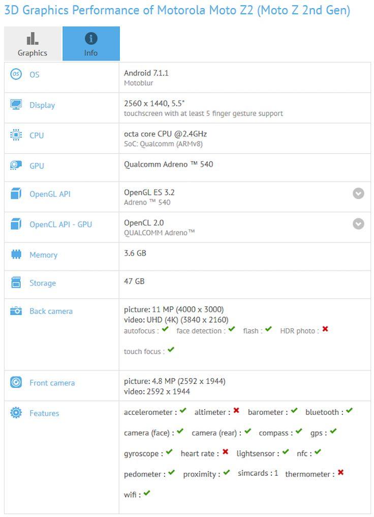 motoz2-3 Moto Z2 quiere apuntar alto: Ya conocemos nuevos datos de este móvil