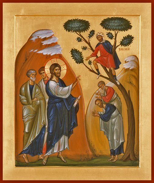 The Calling of Zaccheaus Orthodox icon