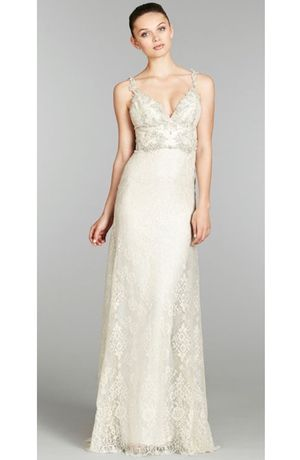 Lazaro - Sweetheart Sheath Gown in Beaded Embroidery