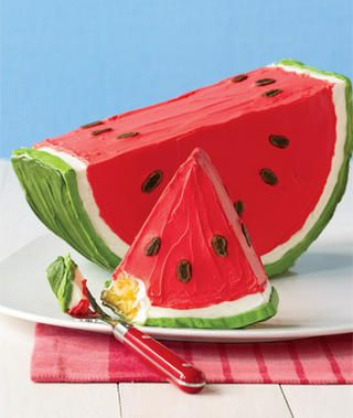 watermelon cake - now I HAVE to have a watermelon party