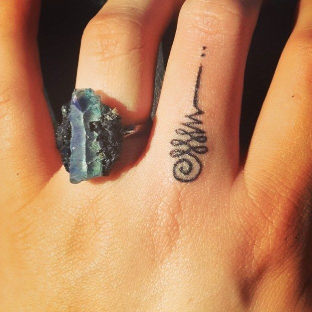 61 Impossibly Tiny And Tasteful Tattoos | Unalome tattoo to represent the path to enlightenment