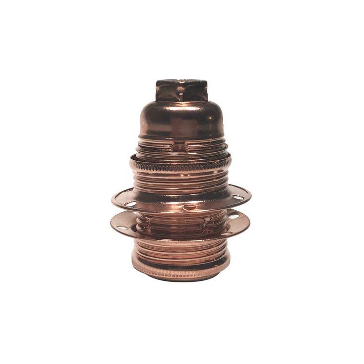 Comprar | Portalámparas E14 cobre con arandelas pantalla | Comprar Casquillos de metal #iluminacion #decoracion #accesorioslamparas #lamparas #handmade