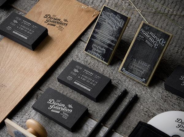 Branding for Japanese jeans boutique Denim Pavilion | Designer: Eskimo - (http://www.eskimodesign.ru) using natural materials and old-fashioned rubber stamps