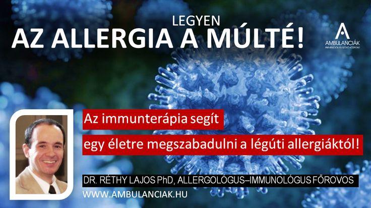 Immunterápia: végleges búcsú a tüsszögéstől! www.ambulanciak.hu
