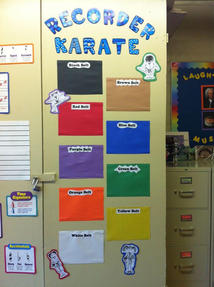Recorder karate... Bonne idée pour mettre les pièces dans des filières de couleurs