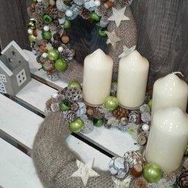 Wianek świąteczny, stroik awentowy