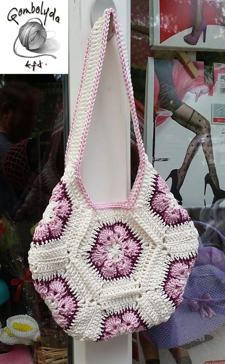 GOMBOLYDA: Hexatáska (crochet hexa bag)