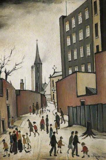 'Albion Mill' by L. S. Lowry, 1941. Oil on Board.