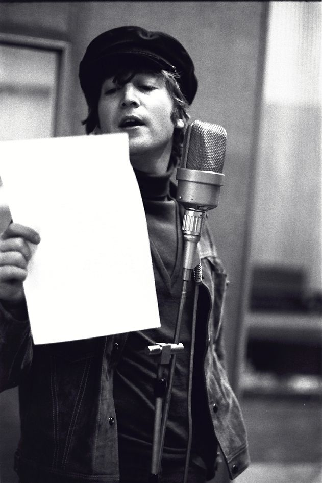 "soundsof71:John Lennon recording ""Girl."""