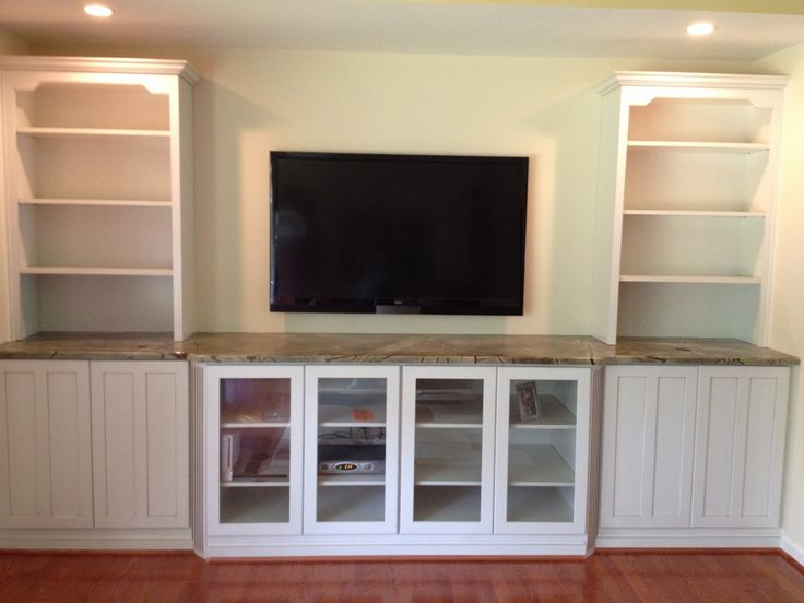 dining room built in wall unit | hand crafted built in tv wall