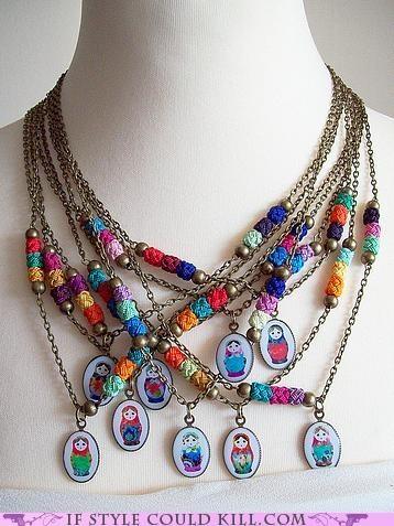 Matroyshka necklace