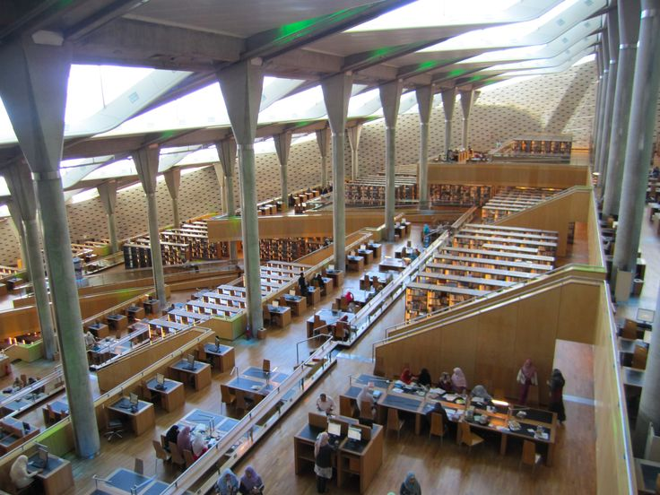 The modern Alexandria Library, built in the same place of the ancient marvelous Library.