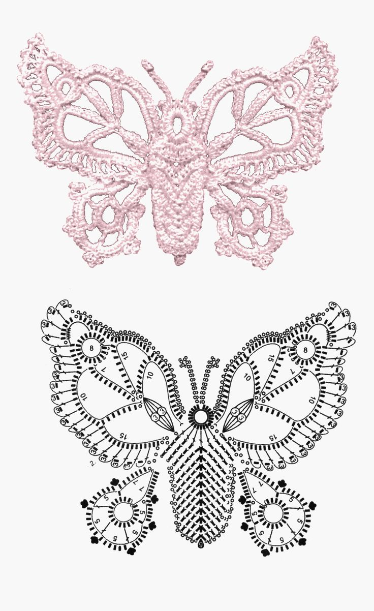 mariposa crochet tutorial - Buscar con Google