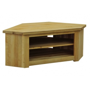 Contemporary Solid Oak QPCTV Corner TV Unit  www.easyfurn.co.uk