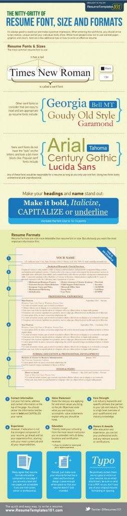 64 best Resumes, Cover Letters, and Portfolios images on Pinterest - acceptable resume fonts